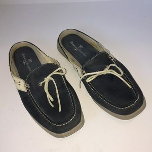 ❤️TOMMY BAHAMA Topsider Mules ~ 9